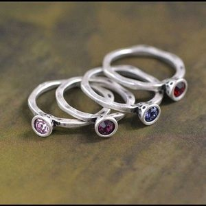 Swarovski Crystal Birthstone Stackable Rings 6-9